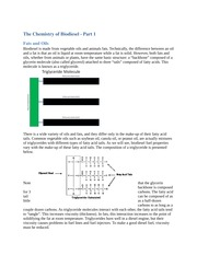 Module 2 The Chemistry of Biodiesel