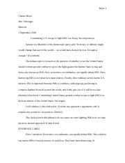 Committing U.S. Troops Con Essay 2.doc