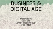 Business and Digital Age