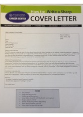 cover letter examples for assignment