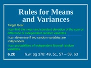 6.2b Rules for Means and Variances(long notes)