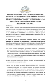 REQUISITOS DE INSTITUCIONES EDUCATIVAS