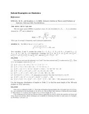 Solved Examples on Statistics