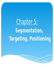 NEW Chapter 5 - Customer-Driven Marketing Strategy 2