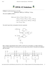 Mallard Intro to Computer Engineering I - HWK #2 Solutions