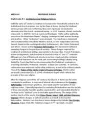 Study Guide # 3 ARCHITECTURE AND RELIGIOUS REFORM 2013(1)