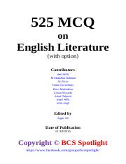 MCQ English Literature - Maneesh Rastogi pdf - MCQ English