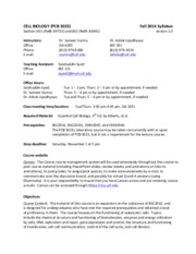 PCB 3023 Fall 2014 Syllabus