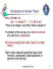 05 NumberTheory1-2013 (modulo, rnd, prime)