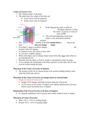 Lecture 7 Study Guide-Center of Gravity