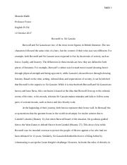 Hero Essay   Beowulf Versus Sir Gawain Beowulf And Sir Gawain And   Pages Beowulf And Sir Gawain Compare And Contrast Essay Docx Law Assignment Help Uk also Research Proposal Essay  Importance Of English Language Essay