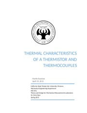 THERMAL CHARACTERISTICS OF A THERMISTOR AND THERMOCOUPLE