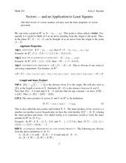 Lecture notes on vectors12