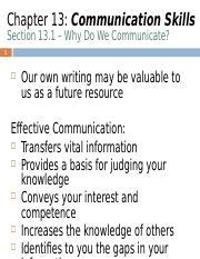 Chapter 13 - Technical Communications