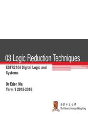 Lecture 03 Logic Reduction Techniques.pdf
