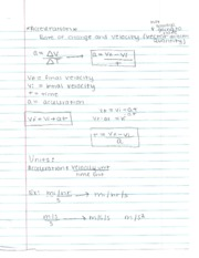 Physics Acceleration Notes