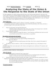 Analyzing the State of the Union.docx