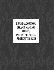 Outline Brand Naming and Logos Slides (Chap 5)