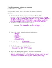 Judaism iBook notesheet