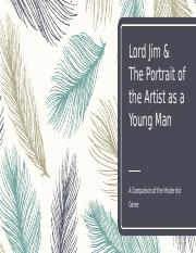 Lord Jim and Portrait