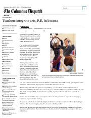 Teachers integrate arts, P.E
