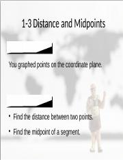 1-3 Distance and Midpoints.pptx