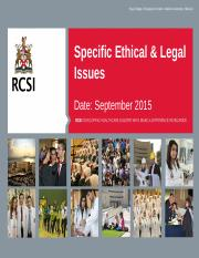 N403A.89 Specific Ethical  Legal Issues.pptx