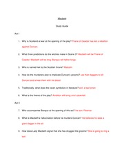 Macbeth Study Guide with answers