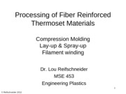 Fiber Reinforced Thermosets