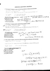 Chapter Eight Practice Problems