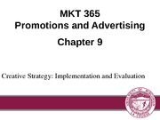 Chapter 9: Creative Strategy: Implementation and Evaluation