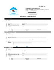 Ufa Housing Forms - 1) APPLICATION FOR NEW MEMBERSHIP
