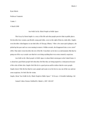 The ways we lie essay summary