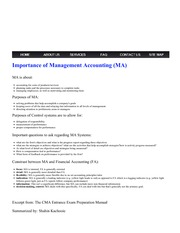 MVSC Accounting - Importance of Management Accounting