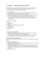 Water Quality Management_notes