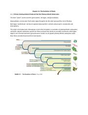 Chapter 21 The Evolution of Plants.docx