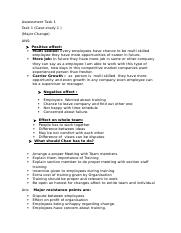 Assessment 7 Manage organisational change..docx