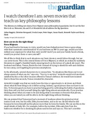 I watch therefore I am_ seven movies that teach us key philosophy lessons _ Film _ The Guardian.pdf