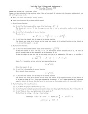 Math for Econ I Homework 2 Solutions