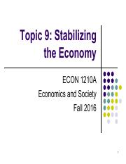 Topic 9. Stabilizing the Economy.pdf