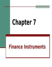 Fin chp 7 Finance Instruments.ppt