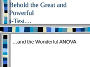 t_test and ANOVA