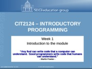 CIT2124-L1-Intro to Module