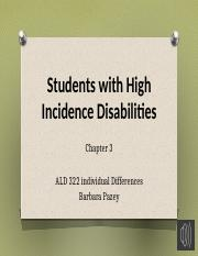 Chapter 3 High Incidence Disabilities_Recording Part 1
