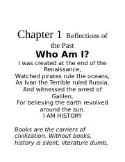 Chapter 1 Reflections of the Past.docx