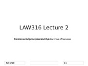 LAW316 Lecture 2