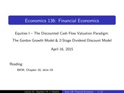 Lecture 22 - Equities I
