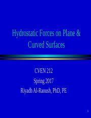 3_Hydrostatic Forces