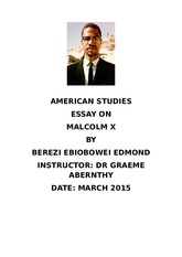 malcolm x essay questions