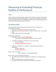 (week 2) Measuring & Evaluating Financial Position & Performance.docx